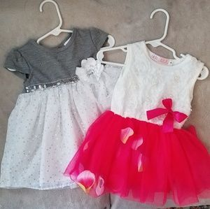 3/$12 Lot of 2 Toddler Party Dresses